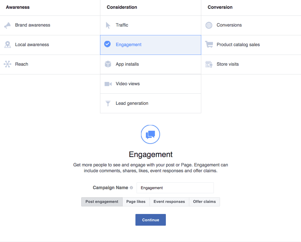 Facebook Ads Post Engagement