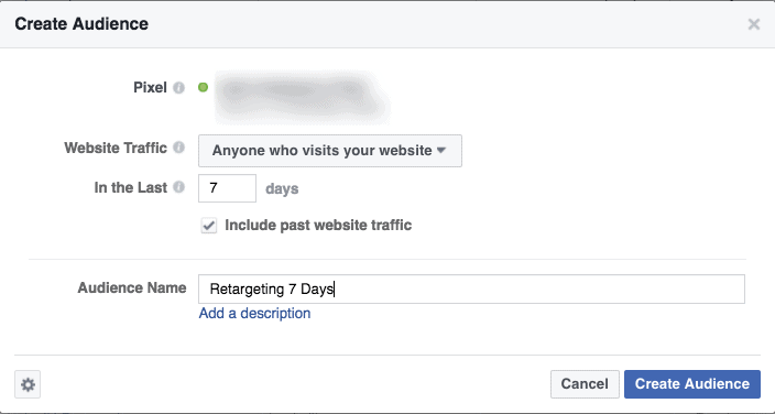 Create FB Ads Retargeting List