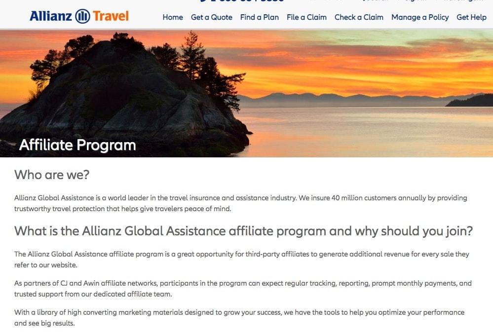 Allianz Travel Affiliate Program