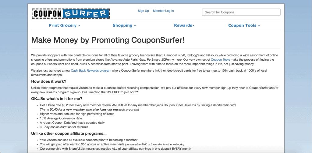 CouponSurfer Affiliate Programs