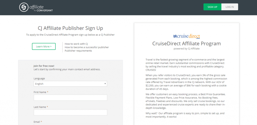 Cruise Direct Travel Affiliate Program