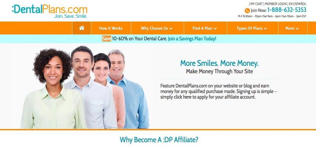 DentalPlans.com Insurance Affiliate Programs