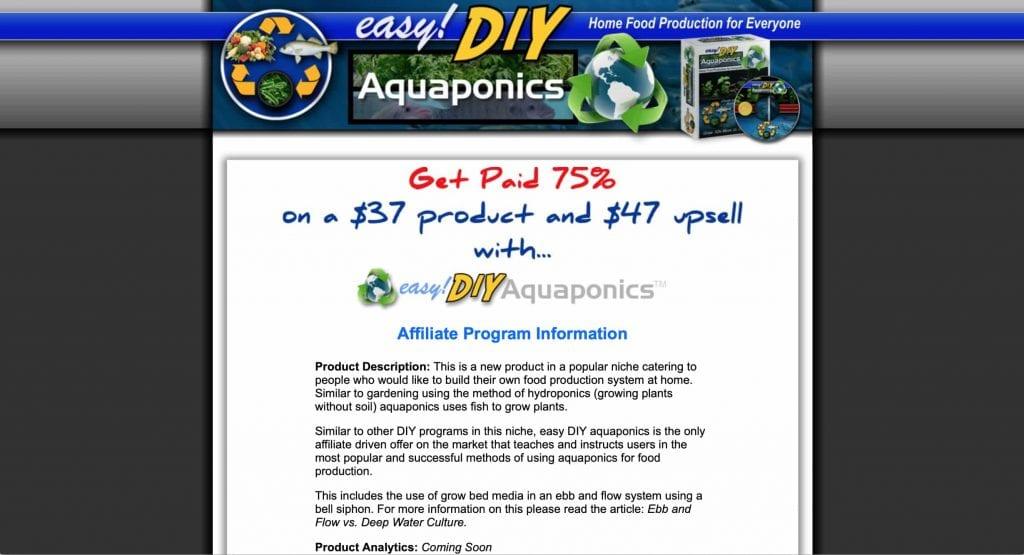 Easy DIY Aquaponics Affiliate Program