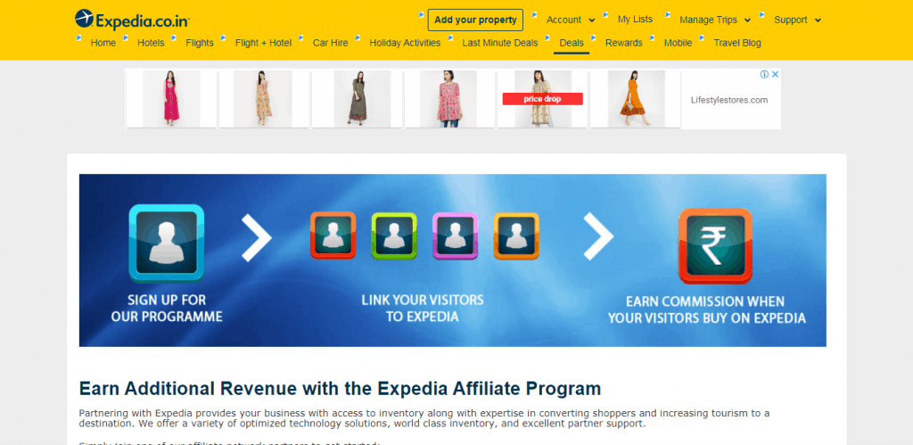 Expedia Travel Affiliate Program