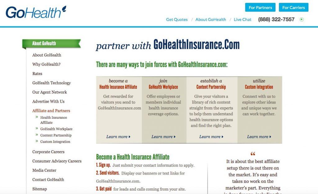 Go Health Insurance Affiliate Program