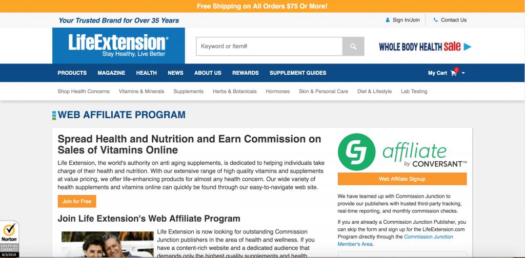 Life Extension Affiliate Programs