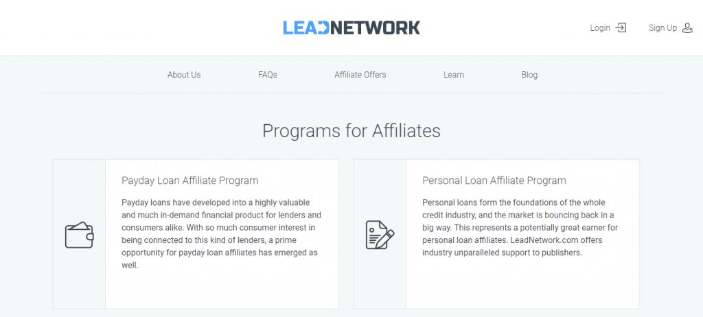 Lead Network Loan Affiliate Program