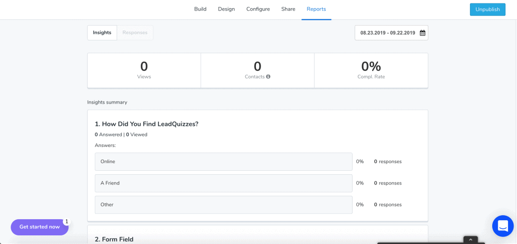 LeadQuizzes Analytics