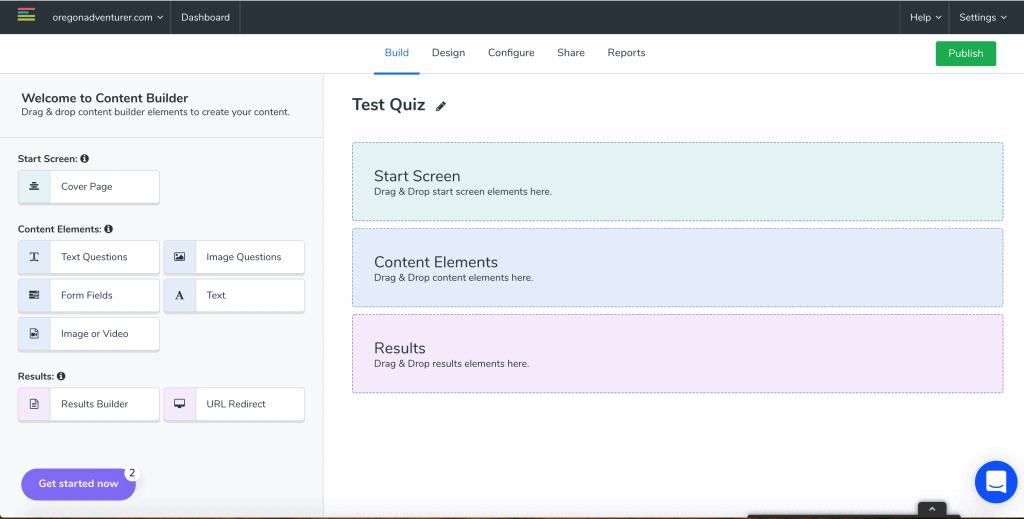 LeadQuizzes Content Builder