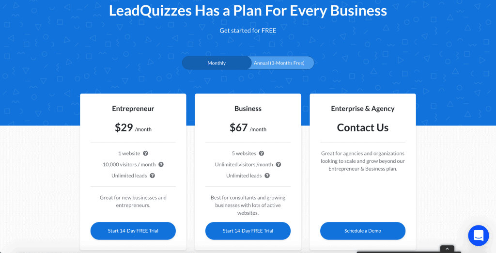 LeadQuizzes Pricing