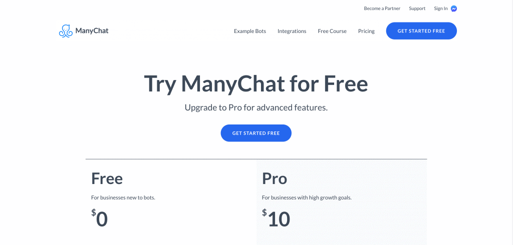 ManyChat Pricing