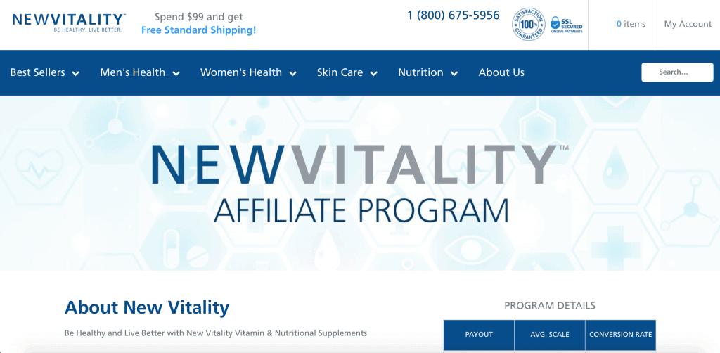 New Vitality Affiliate Programs
