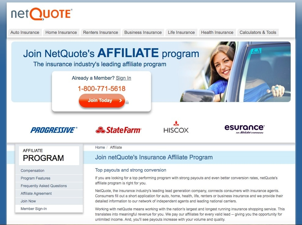Netquote Insurance Affiliate Program