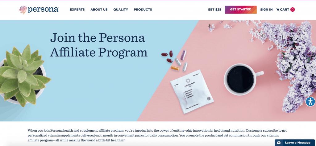 Persona Affiliate Programs