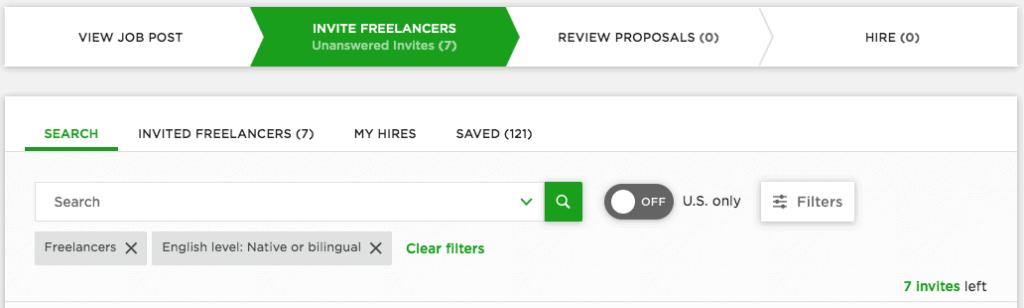 Freelancer Invites