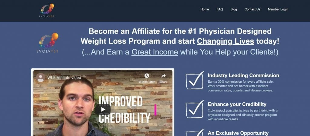Weight Loss Evolved Affiliate Program