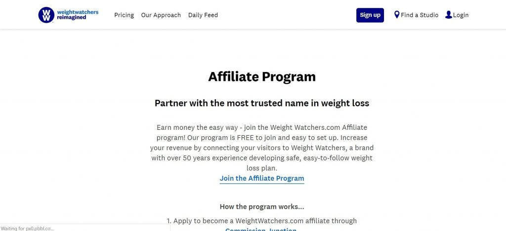 Weight Watchers Affiliate Program