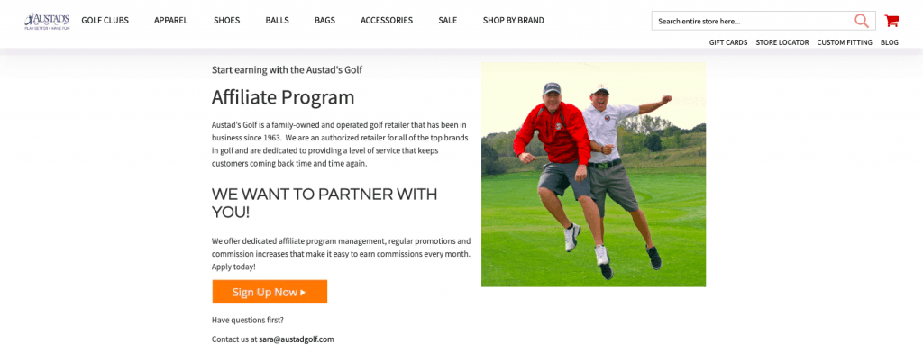 austad's golf affiliate program