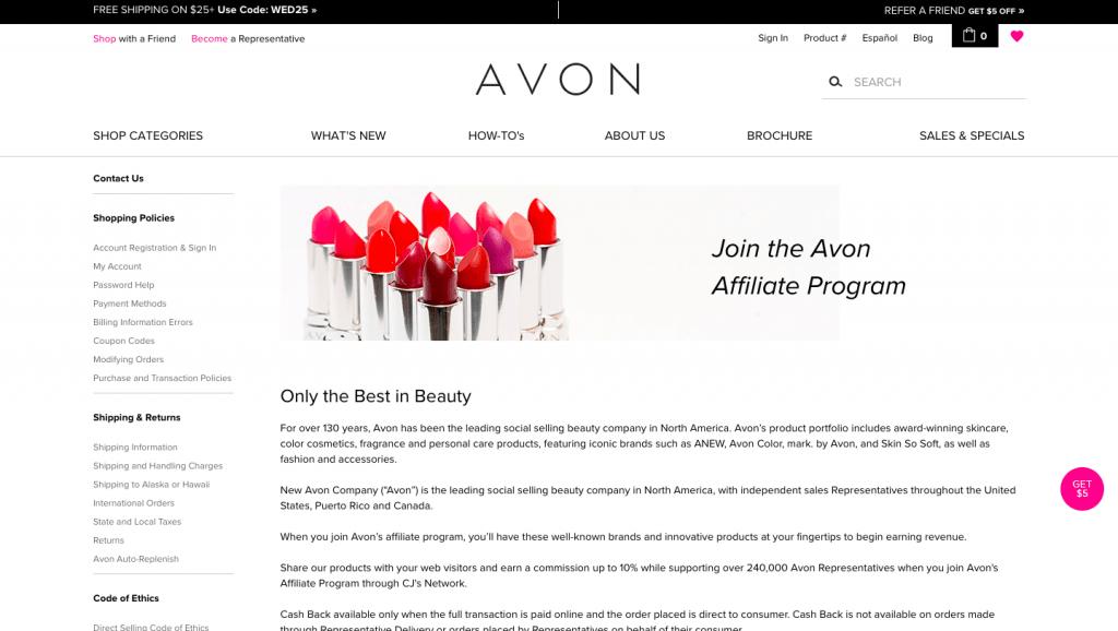 avon affiliate program