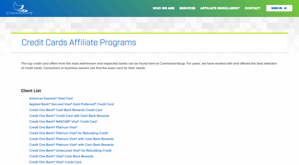 commissionsoup affiliate program