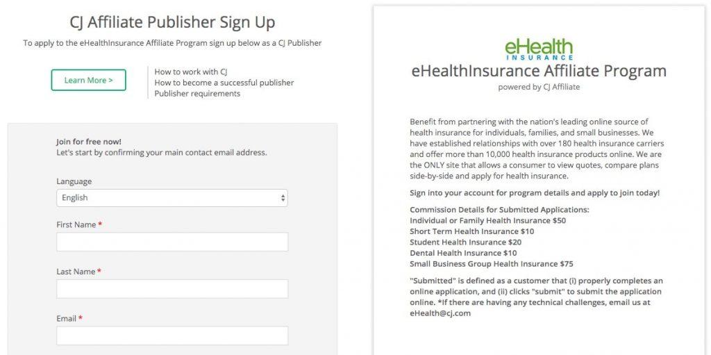 eHealth Affiliate Program