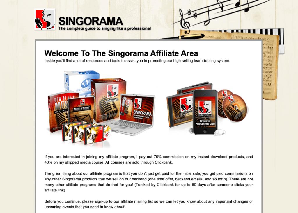 singorama affiliate program