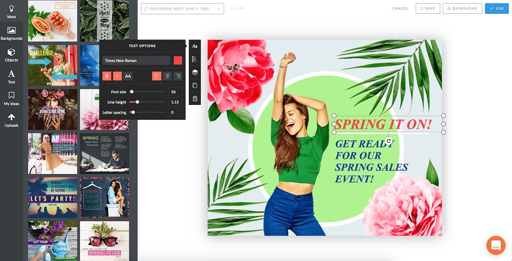 PromoRepublic Graphics Editor