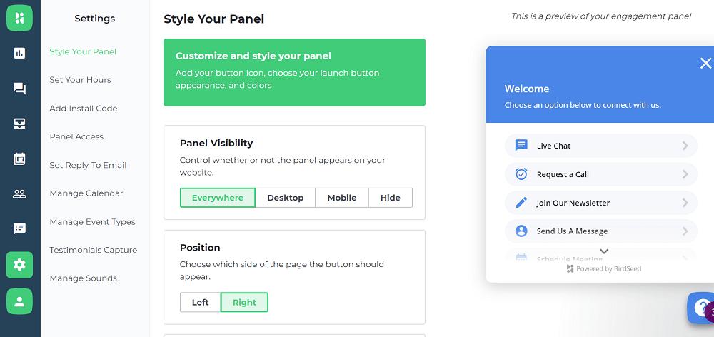 BirdSeed Style Your Panel