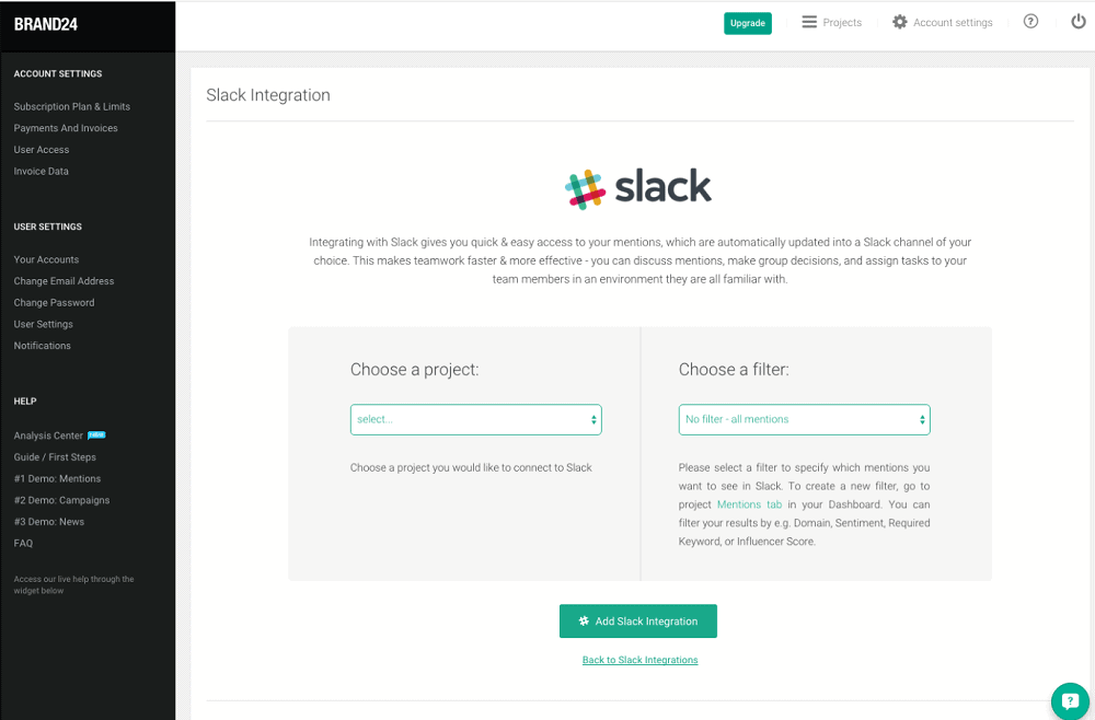 Brand24 Slack Integration