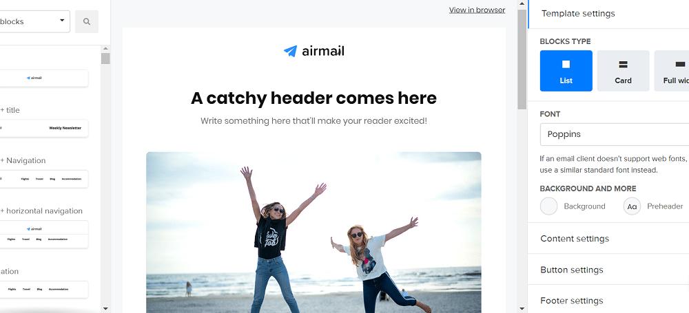 MailerLite Email Editor