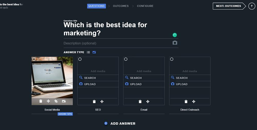 QZZR Create A Quiz