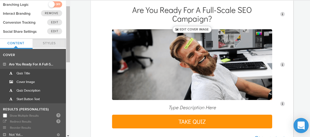 Interact Create Quizzes