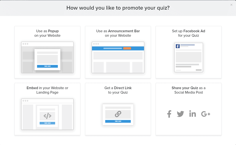 Interact Quiz Posting Options