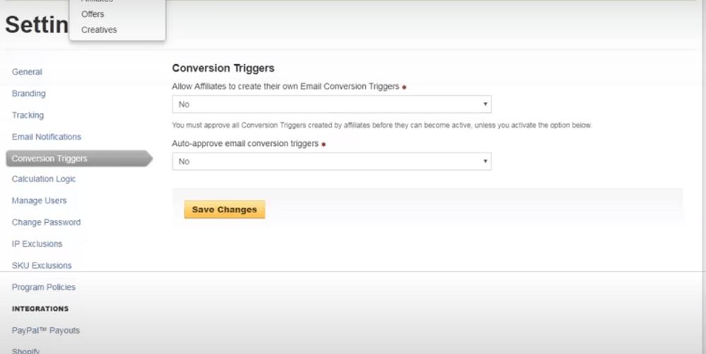 Refersion Conversion Triggers
