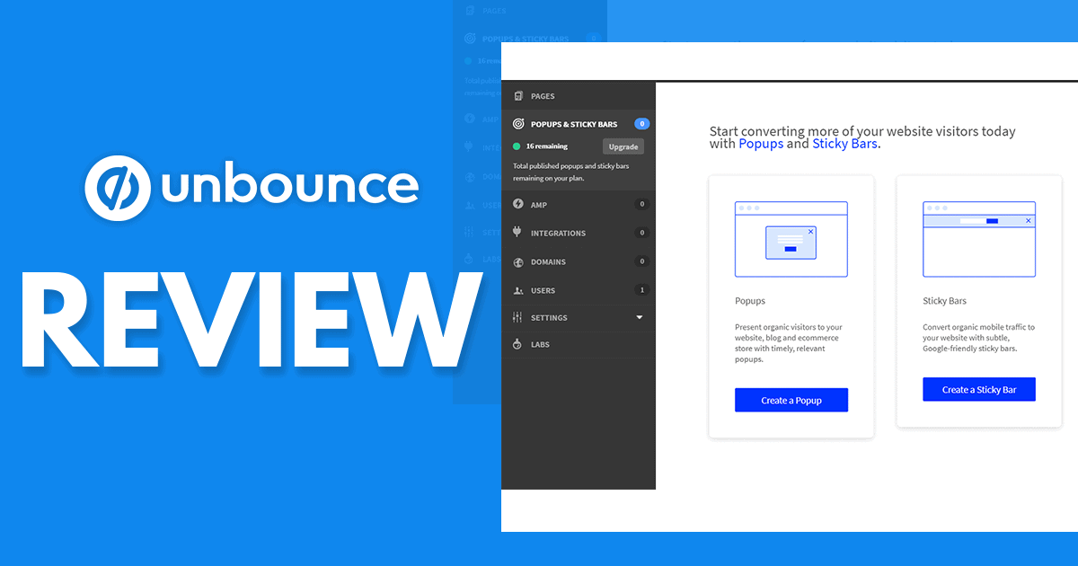 Unbounce Review – Can This Service Help You Create Landing Pages That Convert?
