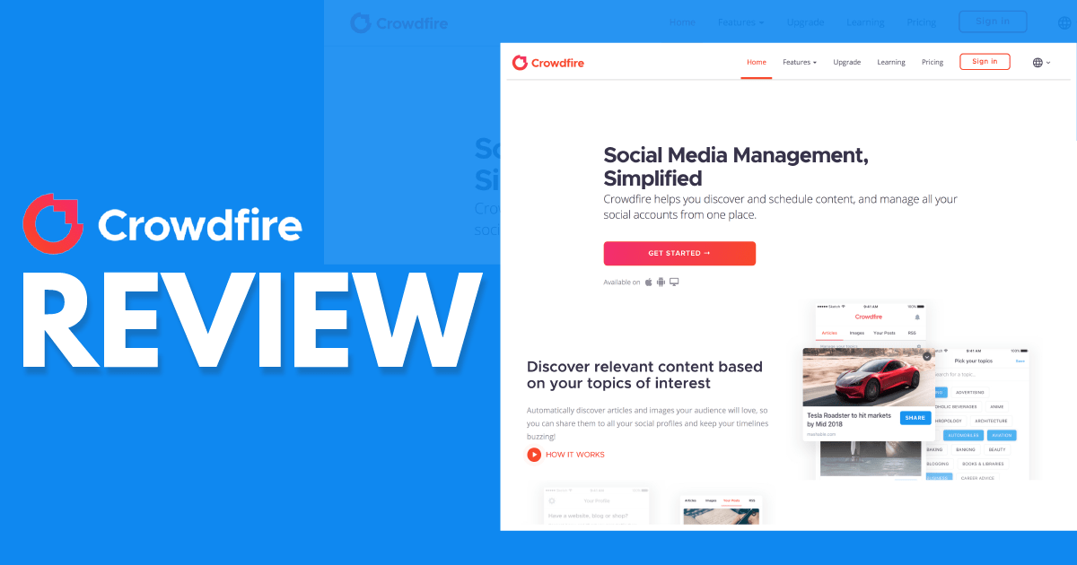Crowdfire Review – A Social Media Manager With Content Curation