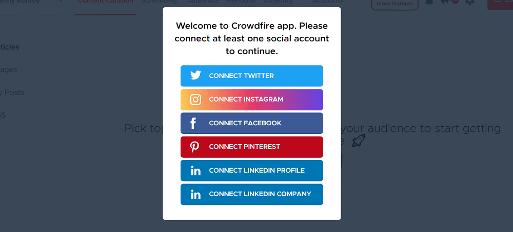 Crowdfire Getting Started