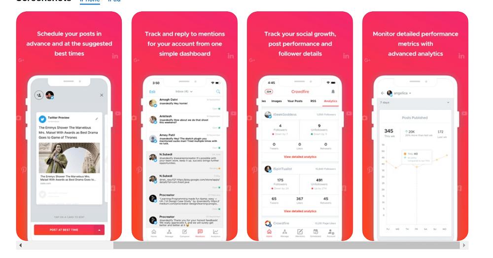 Crowdfire Mobile App