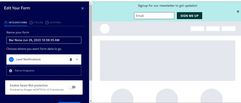 Leadpages Alert Bars