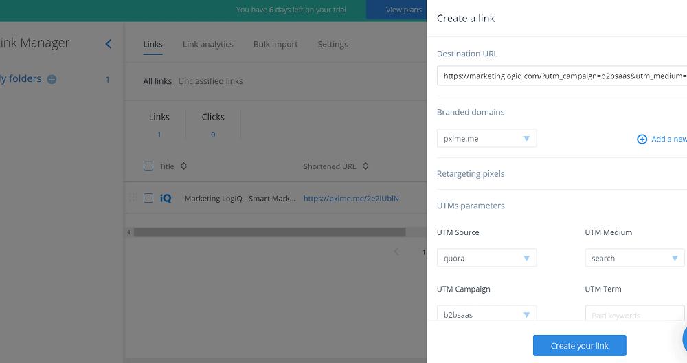 PixelMe Create Link
