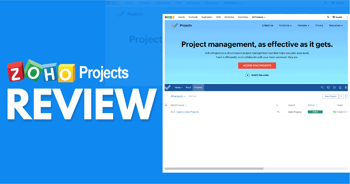 Zoho Projects Review – Is This Project Management Software Worth Using?
