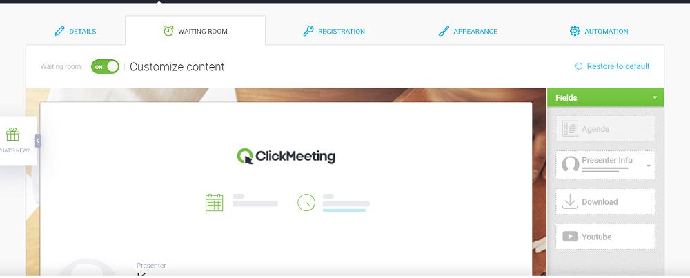 PreWebinar de ClickMeeting