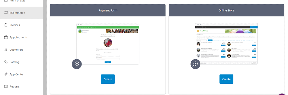 PaySimple Online Store