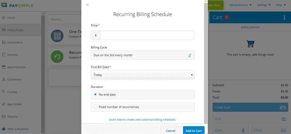 PaySimple Recurring Billing