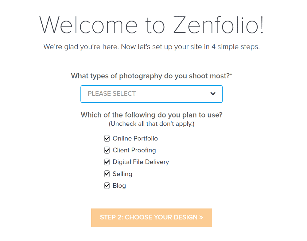 Zenfolio Getting Started