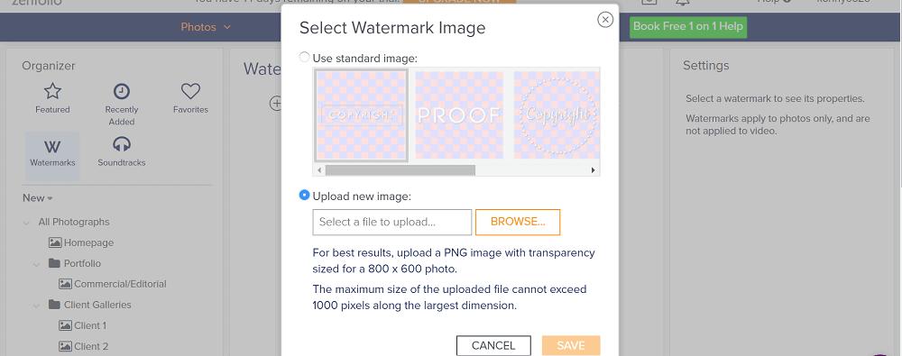 Zenfolio Watermark