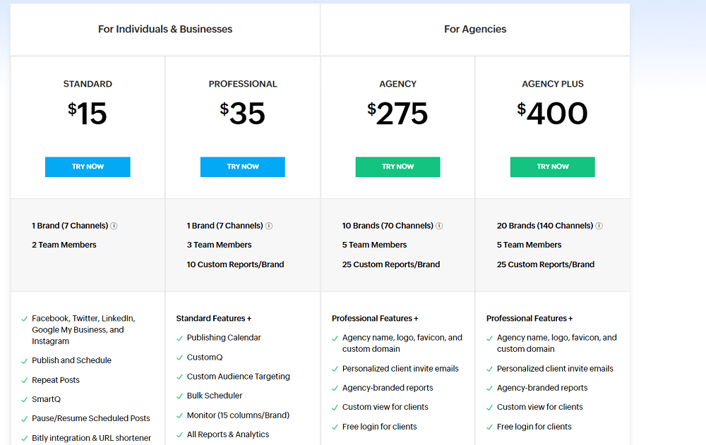 Zoho Monthly Pricing