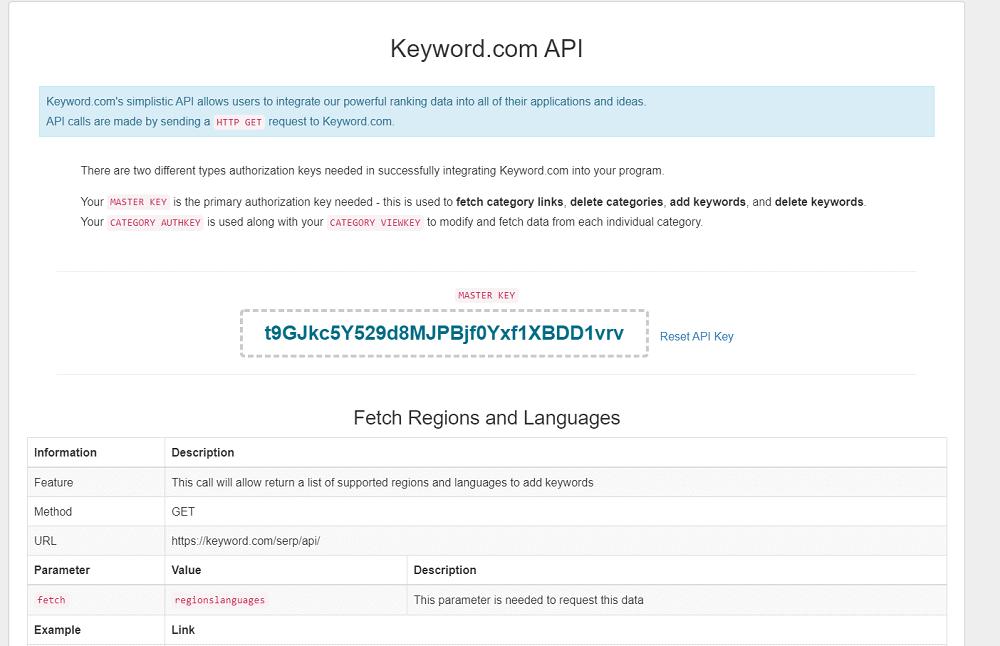 Keyword.com API