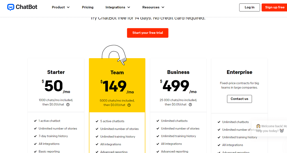 ChatBot Pricing