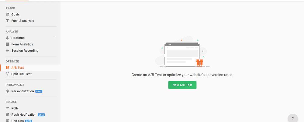 Zoho PageSense AB Test